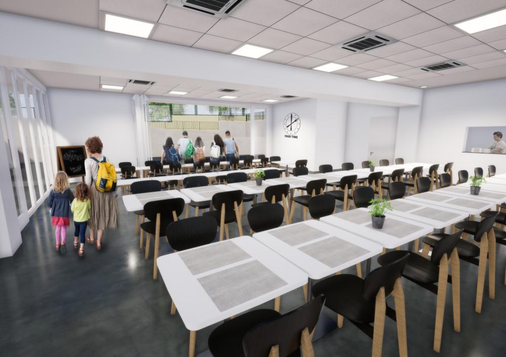Interior del nou menjador